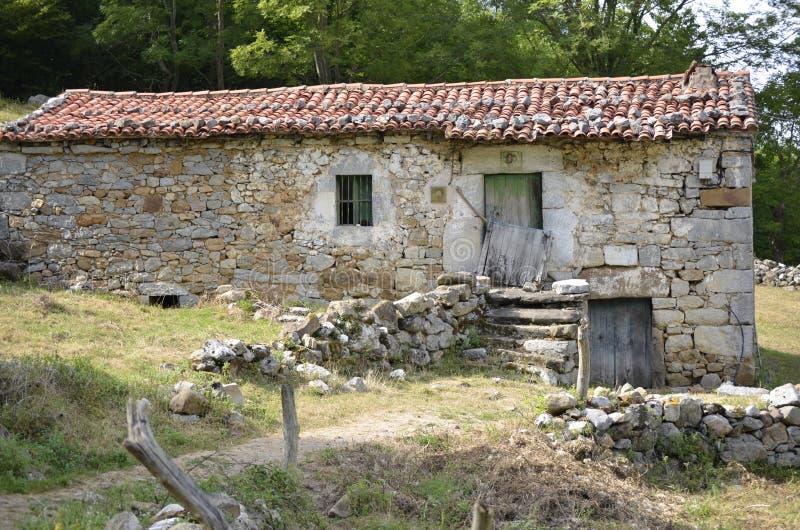 Osamotniony mały dom zdjęcia stock