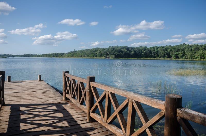 Osamotniony molo przy Coba, Quintana Roo, Meksyk fotografia stock