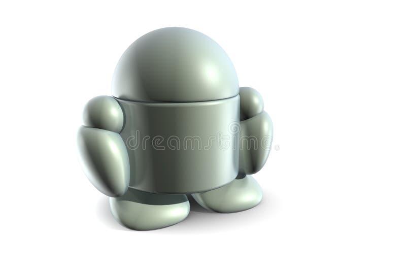 Osamotniony robot royalty ilustracja