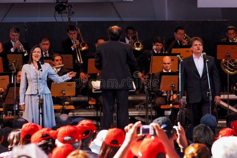 Osasco Orchester Campos tun Jordao stockbilder