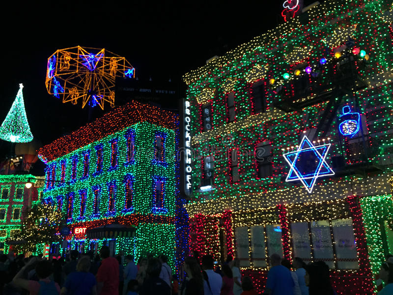 Download Osborne Christmas Lights At Hollywood Studios, Orlando, FL.  Editorial Stock Photo