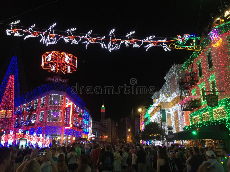 Download Osborne Christmas Lights At Hollywood Studios, Orlando, FL.  Editorial Photo   Image