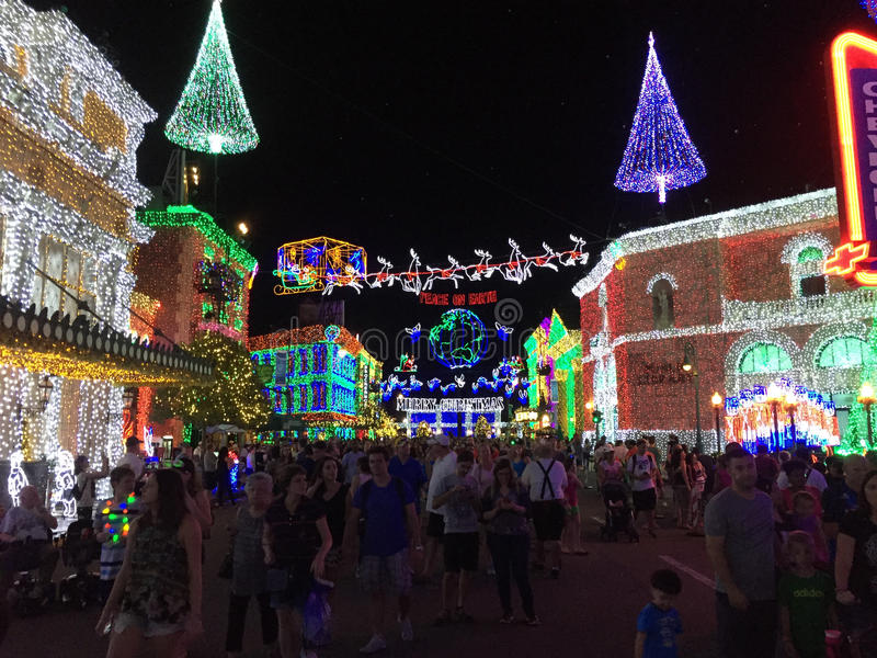 Download Osborne Christmas Lights At Hollywood Studios, Orlando, FL.  Editorial Photography   Image