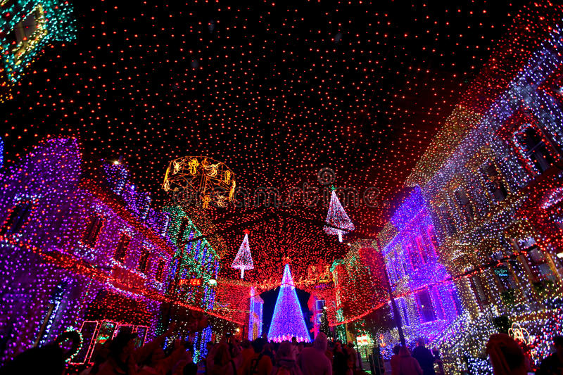 The Osborne Family Spectacle of Dancing Lights. At Hollywood Studios in Disney World, Orlando, Florida, December 16th 2009 stock images