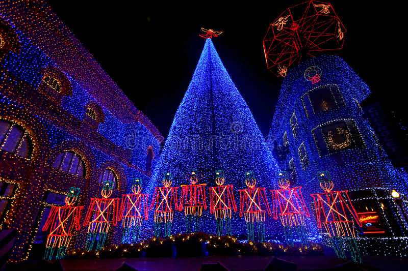 The Osborne Family Spectacle of Dancing Lights. At Hollywood Studios in Disney World, Orlando, Florida, December 16th 2009 stock photo