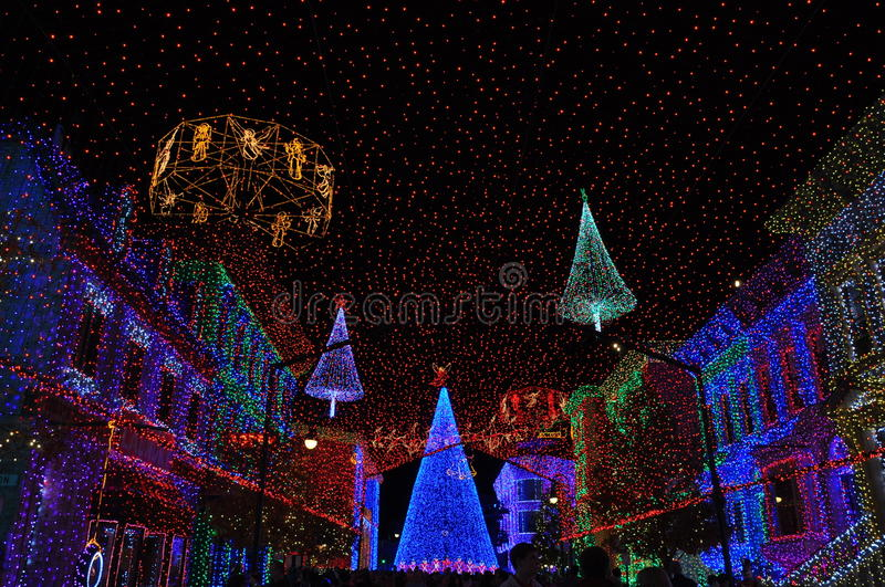The Osborne Family Spectacle of Dancing Lights at Disney Hollywood Studios. The Osborne Family Spectacle of Dancing Lights is a display of Christmas lights and stock photos