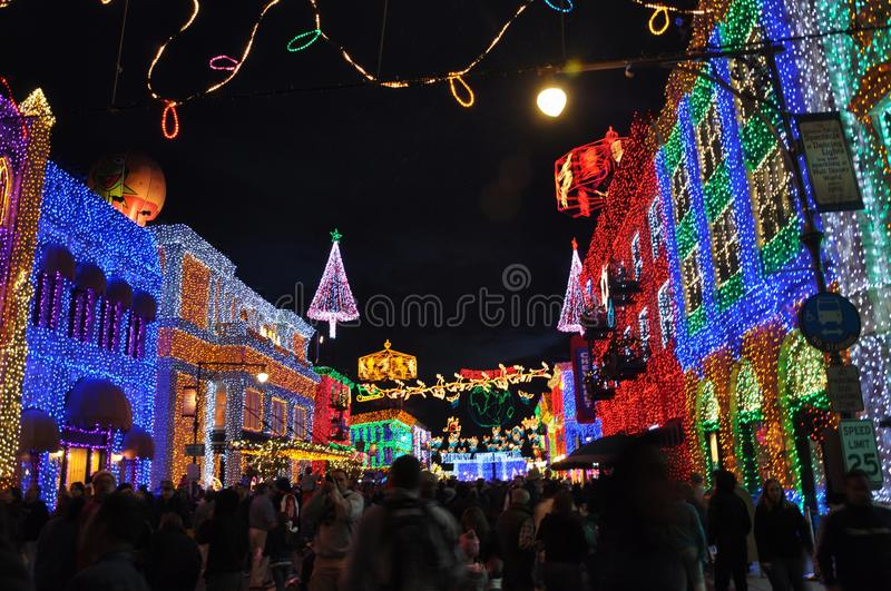 The Osborne Family Spectacle of Dancing Lights at Disney Hollywood Studios. The Osborne Family Spectacle of Dancing Lights is a display of Christmas lights and royalty free stock photography