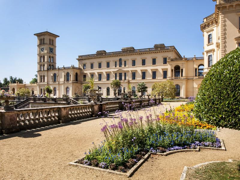 Osborne House, East Cows, Isle of Wight, United Kingdom, 22 July 2014. Osborn House was completed in 1851 for Queen Victoria who used it as her summer home. It stock photography