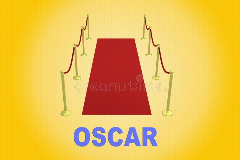 OSCAR - cinema concept stock illustration