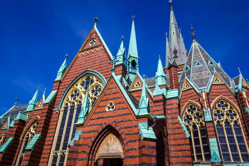 Oscar Fredrik Church - Gothenburg, Suécia fotografia de stock