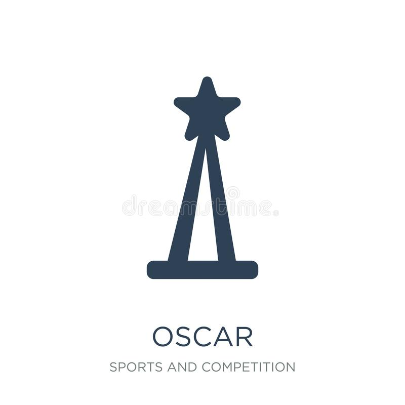 oscar icon in trendy design style. oscar icon isolated on white background. oscar vector icon simple and modern flat symbol for royalty free illustration