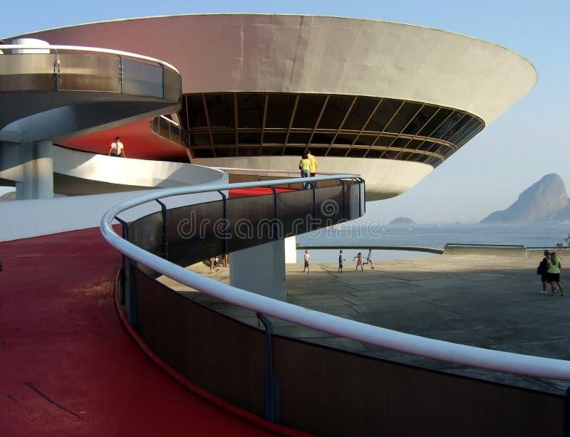 Oscar Niemeyer's Niterói Contemporary Art Museum royalty free stock photos