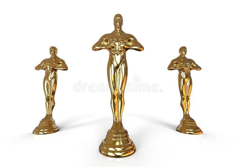 Oscar statue concept. 3D render image representing oscar statue concept vector illustration