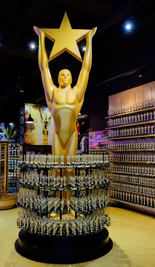 Oscar-Statue stockfotos