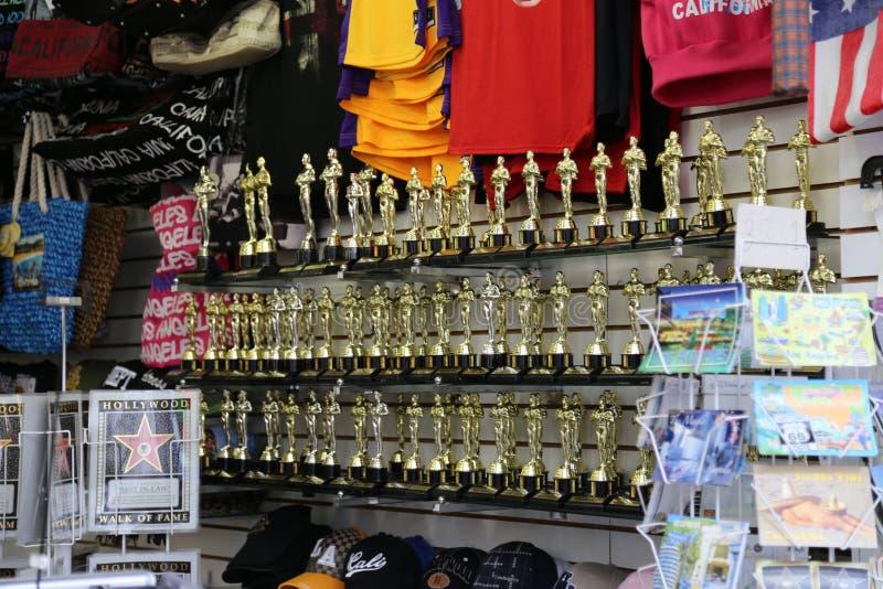Oscar Statue Replica Souvenirs fotografia stock libera da diritti