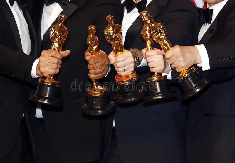 Oscar Statue Winners immagine stock