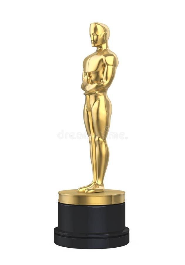 Oscar Statuette Isolated stock de ilustración