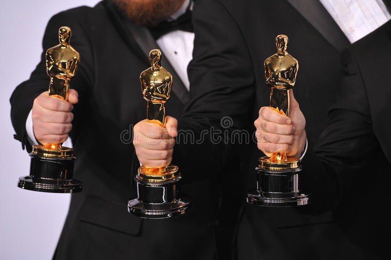 Oscar Trophies stockbilder
