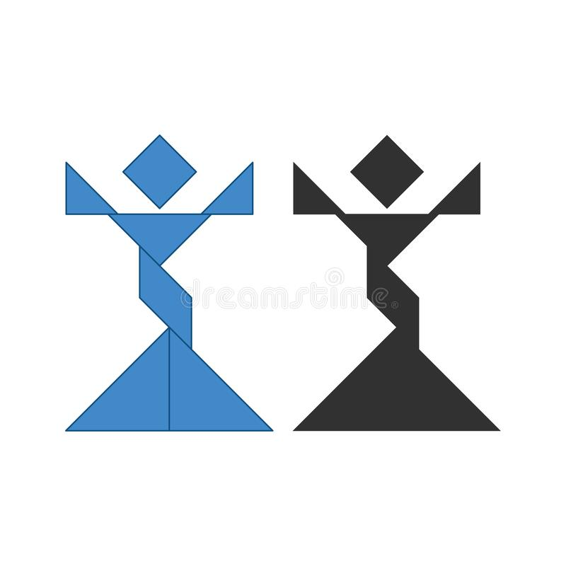 Oscar vinnareTangram r royaltyfri illustrationer