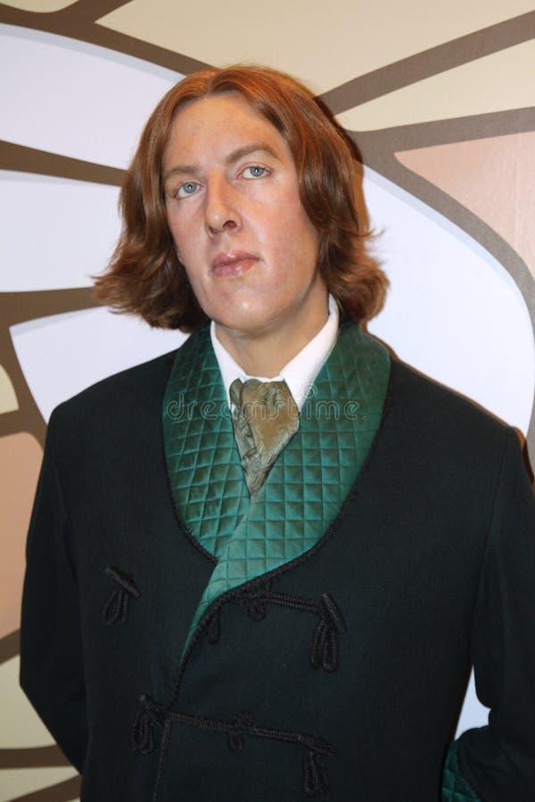 Oscar Wilde à Madame Tussaud's images libres de droits
