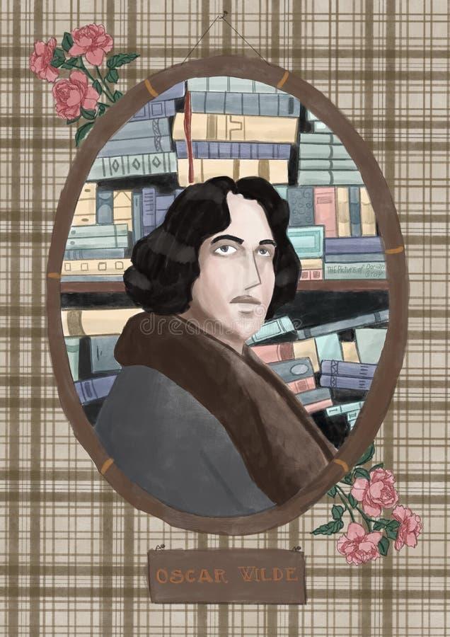Oscar Wilde vektor illustrationer