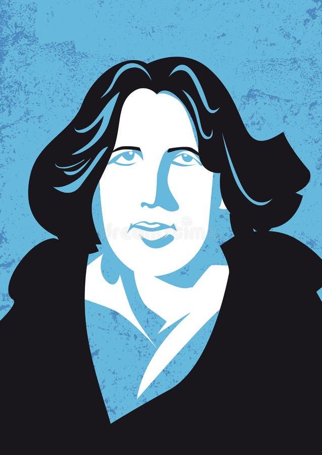 Oscar Wilde, 1854-1900 Irlandzcy poet i pisarz, ilustracja wektor