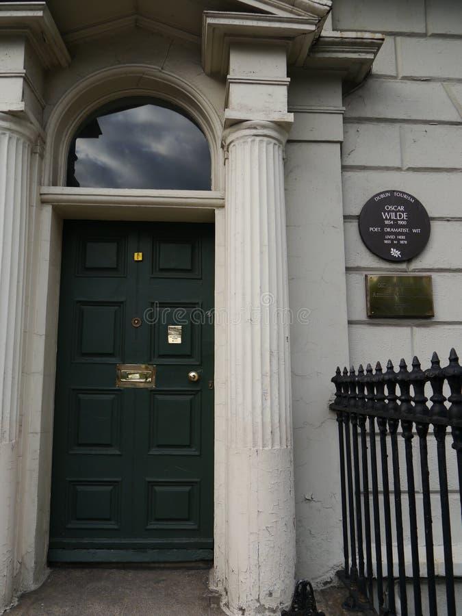 Oscar Wilde's Birthplace stock photos