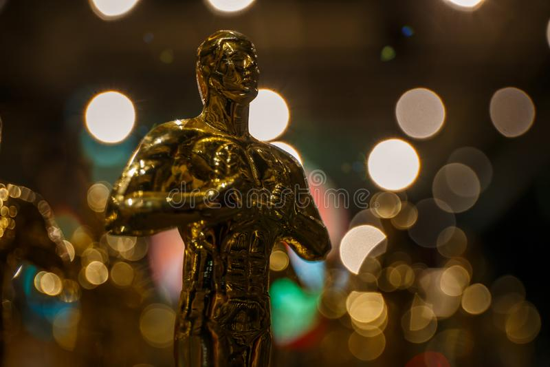 Oscar winners have been announced!. The famous Oscar was once again awarded to the winner, Dolby Theatre in Hollywood, 09/16/2018, Los Angeles, California stock images