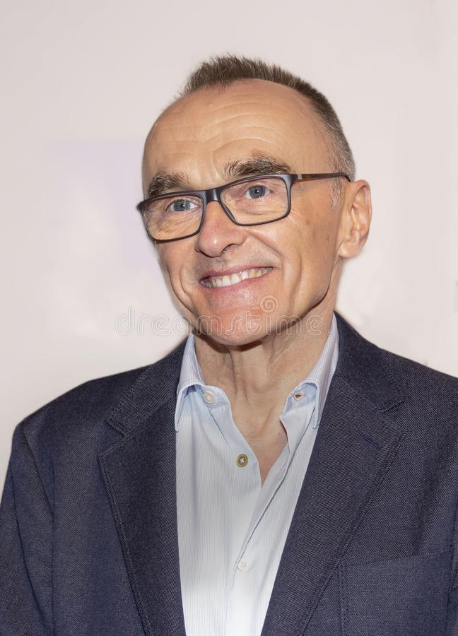 Danny Boyle at World Premiere of `Yesterday` at 2019 Tribeca Film Festival. Oscar winning English director Danny Boyle arrives at the World Premiere of ` royalty free stock photo