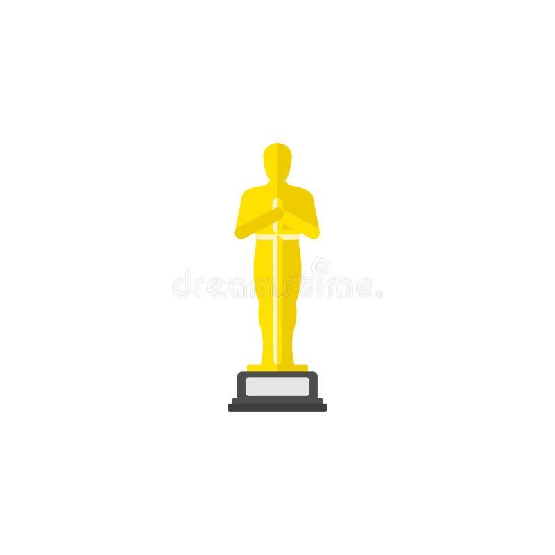 Oscarsymbol i plan stil vektor illustrationer