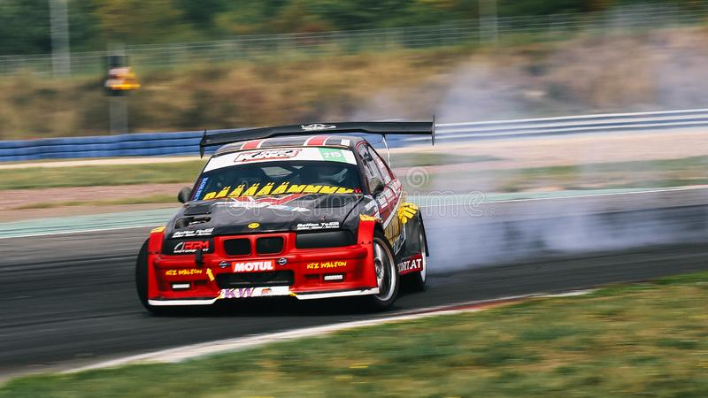 Racing driver Oliver Walton during the Drift Kings International Series stock image