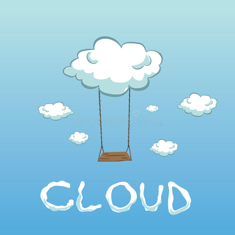 Oscilación de la nube fotografía de archivo libre de regalías