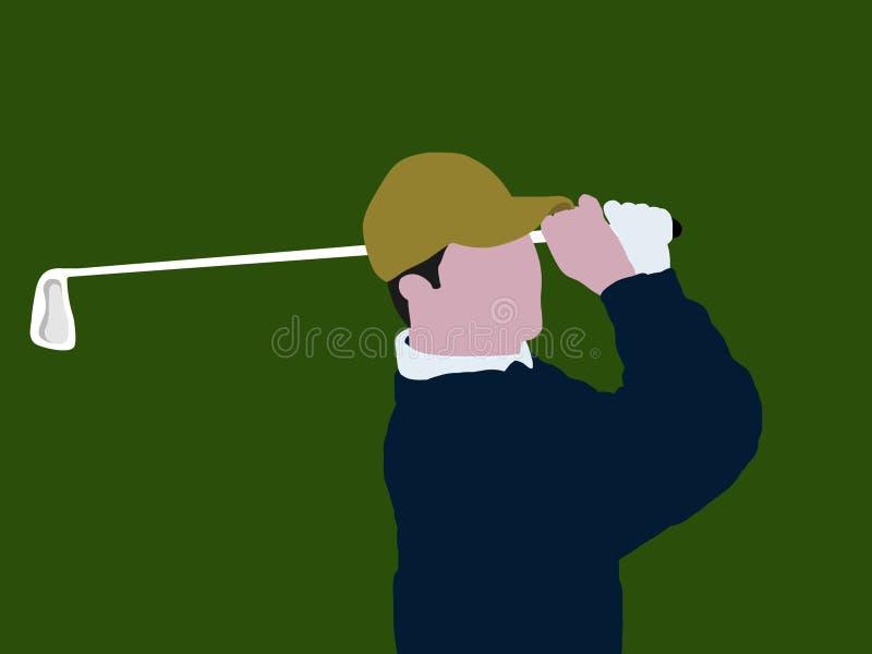 Oscilación del golf stock de ilustración