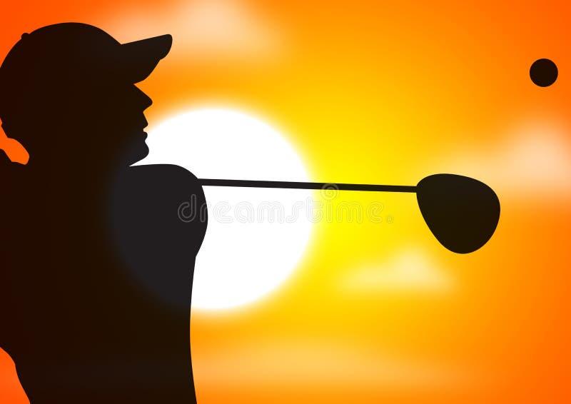 Oscilación del golfista libre illustration