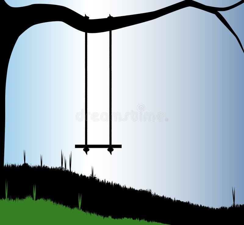 Oscilación del jardín libre illustration