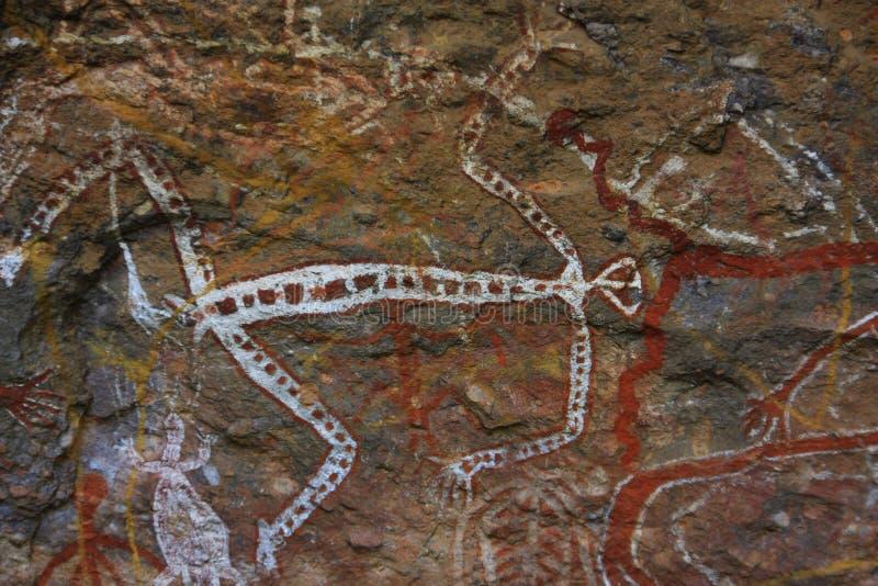 Oscile el arte en Ubirr, parque nacional del kakadu, Australia foto de archivo libre de regalías