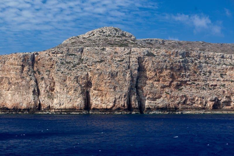 Oscilla le montagne del cielo del mare, Balos, Gramvousa, Creta Grecia fotografia stock libera da diritti