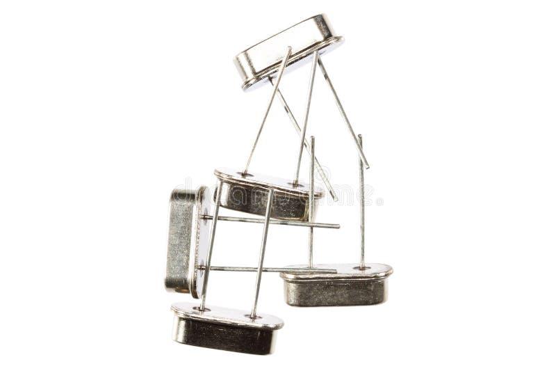 Oscillateurs à cristal d'isolement images stock