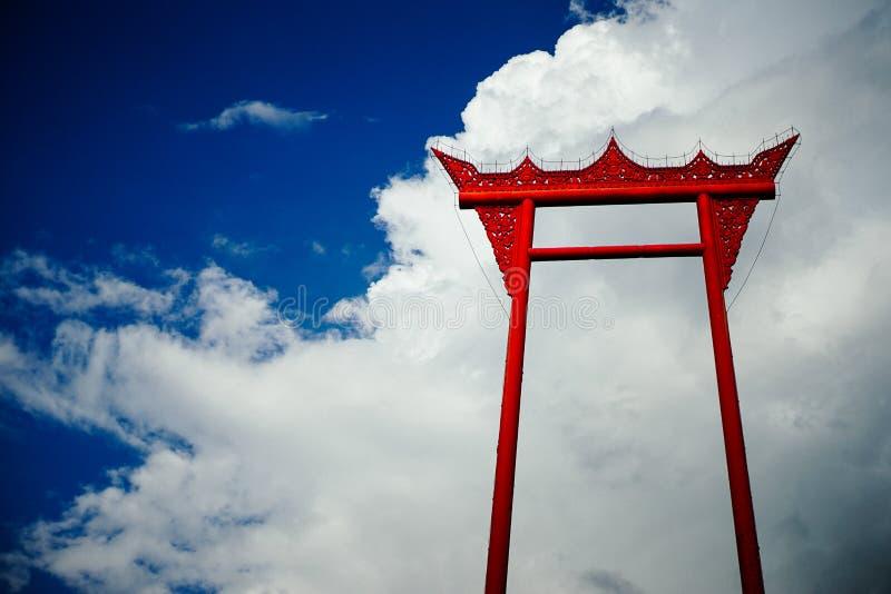 Oscillation au-dessus du nuage image libre de droits