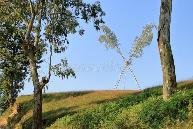 Oscillation de Dashain au Népal photo libre de droits