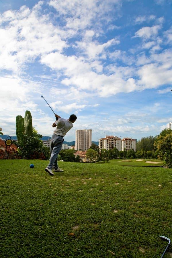 Oscillation de golf photo stock