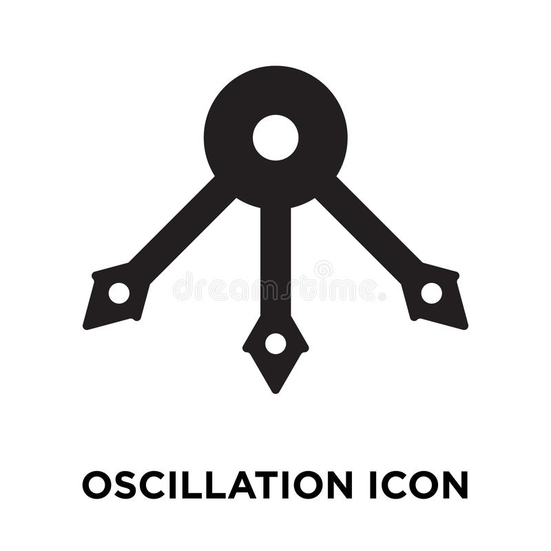 Free Oscillation Icon Vector Isolated On White Background, Logo Concept Of Oscillation Sign On Transparent Background, Black Filled Stock Photo - 125781370