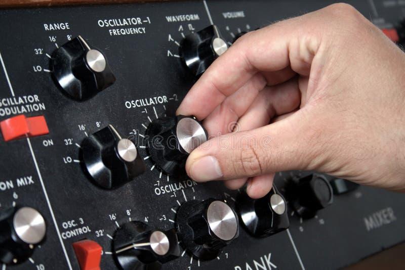 Oscillator bank stock photo