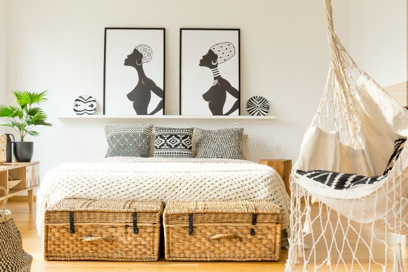 Oscillazione in camera da letto fotografie stock