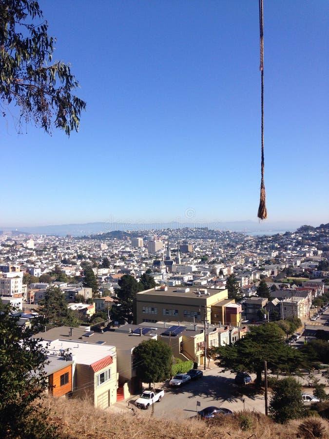 Oscillazione della corda di San Francisco fotografie stock libere da diritti