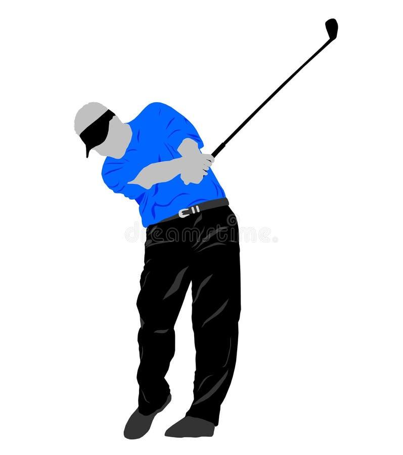 Oscillazione di golf illustrazione vettoriale