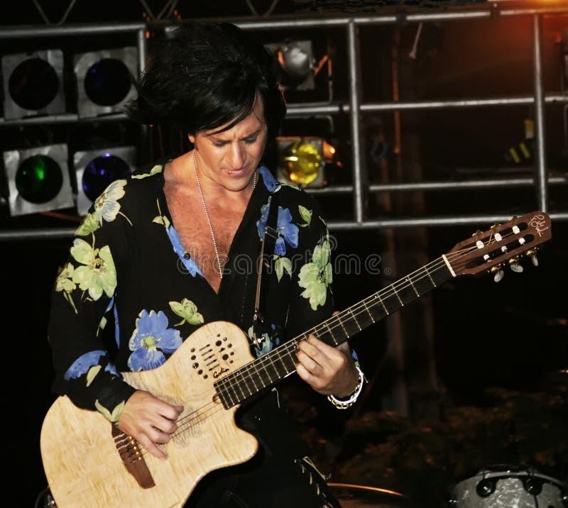 Oscillez le guitariste Steve Stevens photos libres de droits