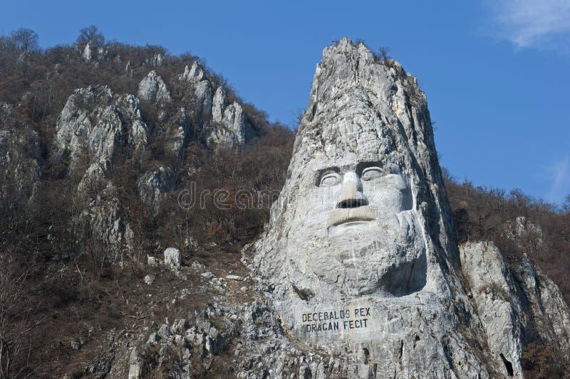 Oscilli la scultura di Decebalus, Romania immagine stock libera da diritti