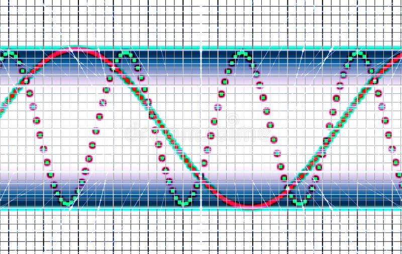 Download Oscillograph stock illustration. Illustration of backdrop - 21380559