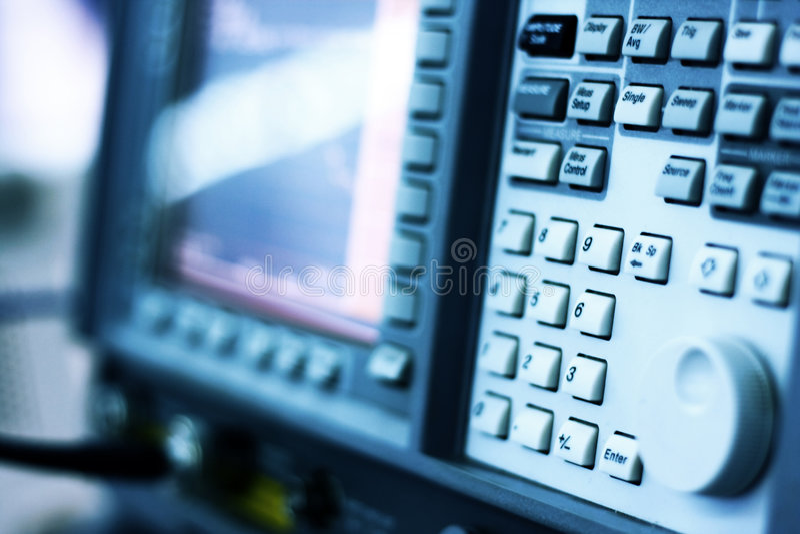 Oscillometer - analizzatore di spettro fotografie stock